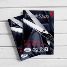 ABSOLUTE SCISSORS CATALOGUE Catalogue Design (Bilingual, English and French)