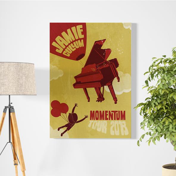 Jamie Cullum 'Momentum' Tour Poster